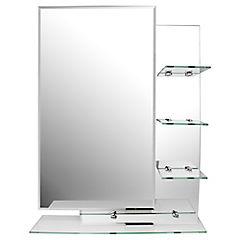 Espejo para baño con repisa 70x50x0,5 cm