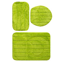 Set de baño 3 piezas verde