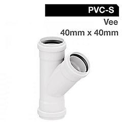 Vee PVC sanitario 40 x 40mm goma