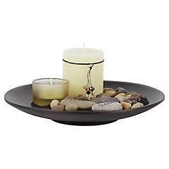 Plato decorativo para velas café