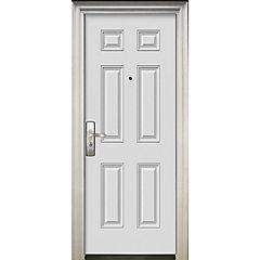 Puerta de seguridad Acero derecha blanca 86x205cm