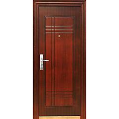 Puerta de seguridad Acero derecha café 86x205cm