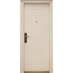 Puerta de seguridad Acero derecha blanco 86x205cm