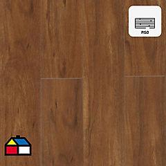 Piso laminado 121x19,8 cm 2,58 m2 Café