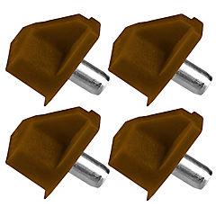 Set de soportes para repisa 4 unidades
