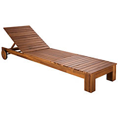 Reposera reclinable madera