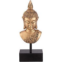 Buda decorativo 41x16x8 cm poliresina dorado