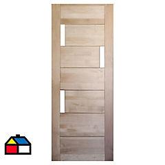 70x210 cm Puerta Lenga Mantova 3 vidrios