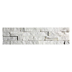Piedra Mosaico 60 x 15 cm Blanca 0.54 m2