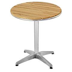 Mesa circular aluminio-madera 60 cm