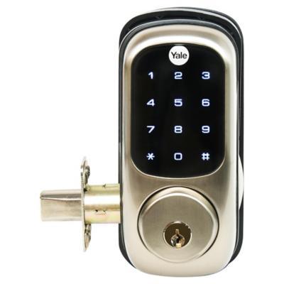 Cerrojo digital con llave ydr220 for Llaves para lavamanos sodimac