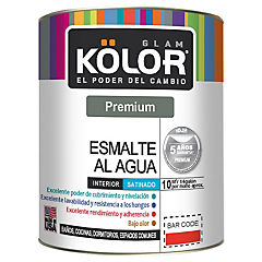 Esmalte al agua premium satinado interior 1/4 gl blanco