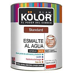 Esmalte al agua standard mate interior 1/4 gl blanco