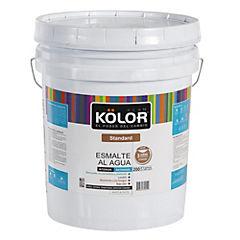 Esmalte al agua satinado interior 5 gl blanco/pastel