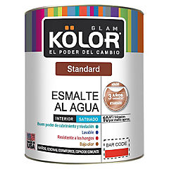 Esmalte al agua standard satinado interior 1/4 gl blanco