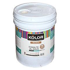 Esmalte al agua semibrillo interior 5 gl  blanco/pastel
