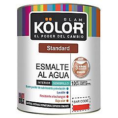 Esmalte al agua standard semibrillo interior 1/4 gl blanco