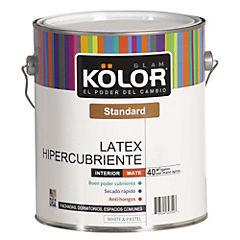 Látex hiper cubriente 1 gl  blanco/pastel