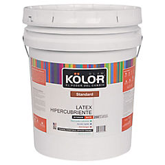 Látex hiper cubriente 5 gl   blanco/pastel