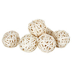 Set 6 esferas Bolsa Café-Blanco