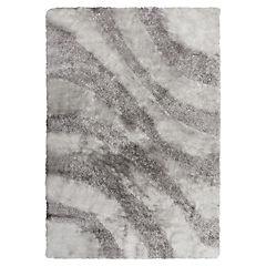 Alfombra Shaggy Ondas 120x170 cm