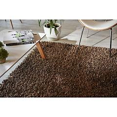 Alfombra Shaggy Mix 120x170 cm café