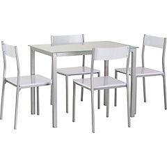 Comedor 4 sillas blanco