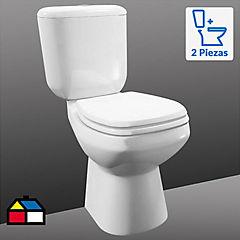 WC Eco Flush con asiento 4,8 litros blanco