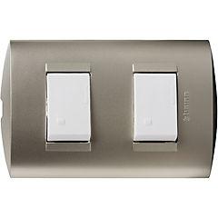 Interruptor doble 10A blanco armado Modus Style