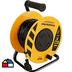 Cable con Carrete 30 mt 10 Amperes