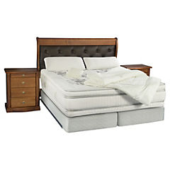 Box Spring King Majesty + Textil + Muebles Capitone