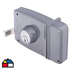 Cerradura de sobreponer 3 pitones gris 2201