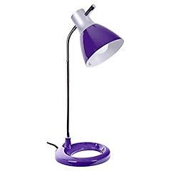 Lámpara de escritorio 1 luz morado