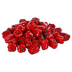 Mini pimentones rojos decorativos 50 unidades