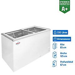 Freezer dual horizontal 330 litros blanco