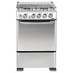 Cocina a gas 4 quemadores 66 litros grafito