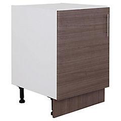 Mueble base 85x60x60 cm melamina Teca