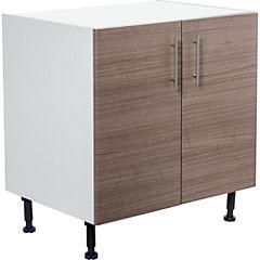 Mueble base 80x60 cm melamina teca
