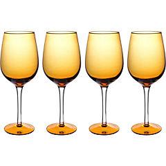 Set de copas para vino cristal 360 ml 4 unidades Ámbar
