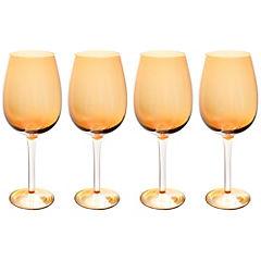 Set de copas para vino cristal 450 ml 4 unidades Ámbar