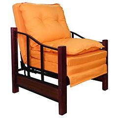 Sillón futón 76x190x45 cm naranjo