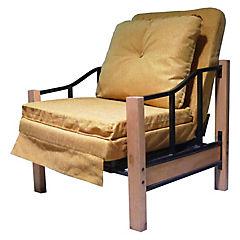 Sillón futón 76x190x45 cm mostaza