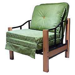 Sillón futón 76x190x45 cm verde pistacho