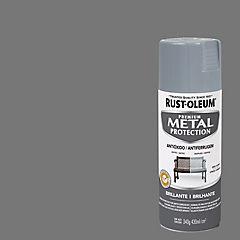 Spray Anticorrosivo Stops-Rust Antióxido Gris Humo Brillante 340 gr