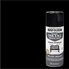 Spray Anticorrosivo Stops-Rust Antióxido Negro Brillante 340 gr