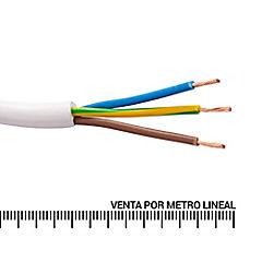 Cordón 3X0,75 mm2 metro lineal Blanco