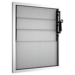Ventana celosía aluminio intermedio 46x55 cm blanco