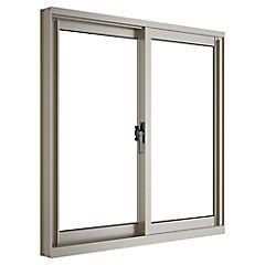 Ventana corredera aluminio intermedio 60x60 cm titanio