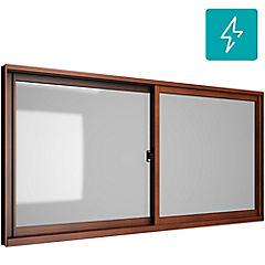 Ventana corredera aluminio intermedio termopanel 100x60 cm madera