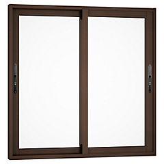 Ventana corredera aluminio premiun 100x100 cm madera